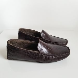 Cole Haan leather shearling-lined loafers